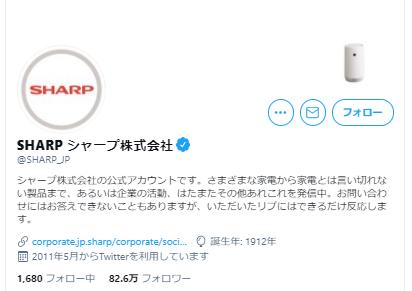 SHARPのTwitter活用事例1
